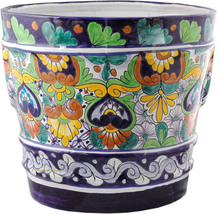"Small Mexican Flower Pot ""Pachuca"" - $75.00"