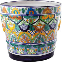 "Small Mexican Flower Pot ""Morelia"" - $75.00"