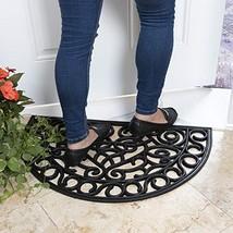 "Ottomanson RDM9500-18X30 Rubber Doormat, 18""X30""-Slice, Black - $11.71"