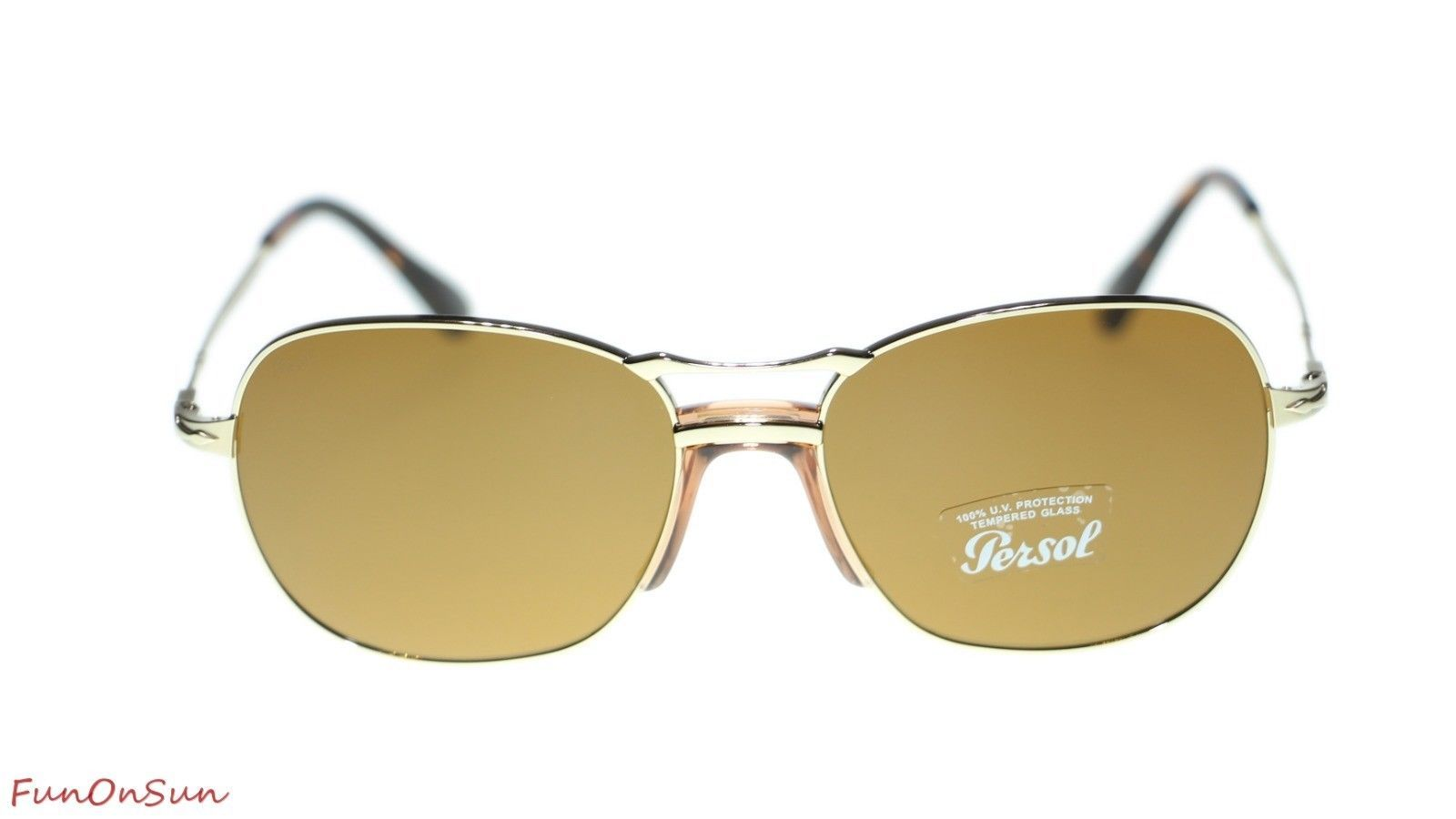 Persol Mens Sunglasses PO2449S 107633 Gold/Brown Lens 56mm