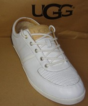 UGG Australia BROOK-LIN White Leather Sneakers Men's Size 10.5 NIB Brook... - $979,83 MXN