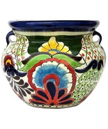 """Small Mexican Flower Planter """"Blue Flower"""" - $75.00"""