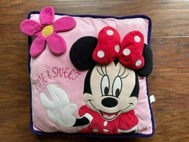 """pre-own great condition Original Disney MINNIE MOUSE 3D Pillow Pink 15"""" x15"""" - $17.72"""