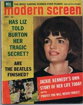 ORIGINAL Vintage September 1964 Modern Screen Magazine Jackie Kennedy - $24.74