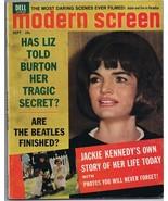 ORIGINAL Vintage September 1964 Modern Screen Magazine Jackie Kennedy - $24.74