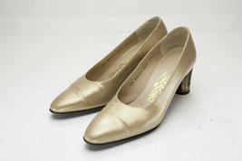 Salvatore Ferragamo 5.5 Gold Pumps Women's Shoes - $39.00