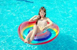 """Swim About Adult Giant Big Large Rainbow Swim Ring Tube 47"""" 120cm image 5"""