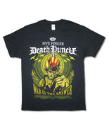 Five Finger Death Punch-War Is The Answer Skull-XXL Black T-shirt - $17.87