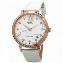 The Orient ER2H003W Women's White Leather Strap with White Analog Dial W... - $134.35