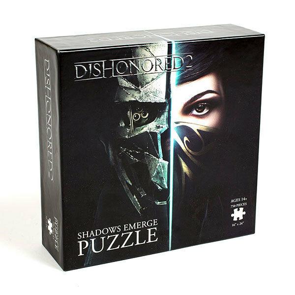 Dishonored 2 Shadows Emerge Mask Jigsaw Puzzle 750 PC USAopoly Bethesda - $29.99