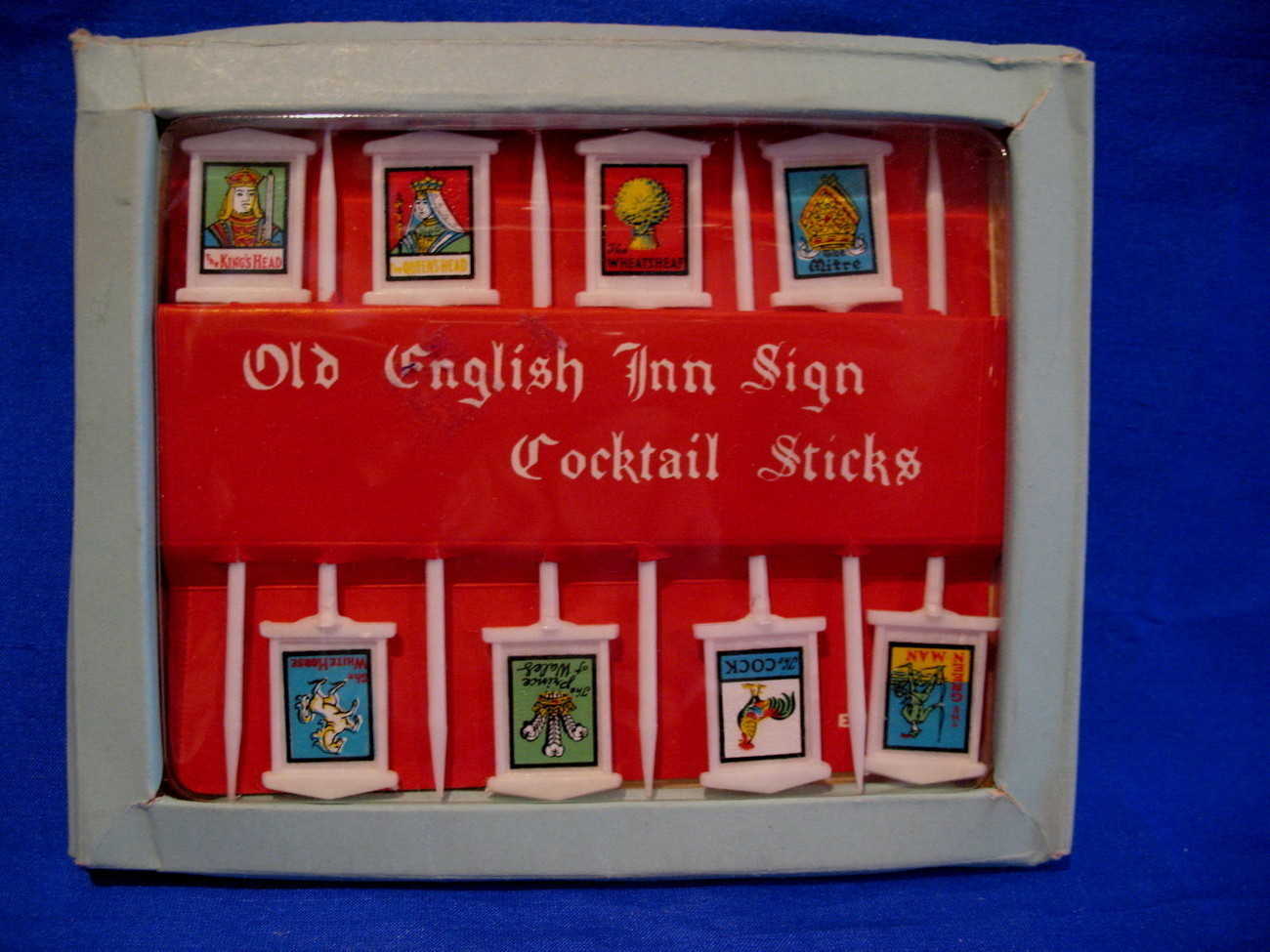 Primary image for Old English Inn Sign Cocktail Sticks Beer Pubs NOS