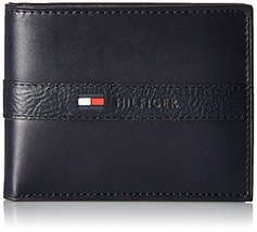 Tommy Hilfiger Men's Ranger Leather Passcase Wallet with Removable Card Holder,N