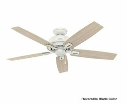 """Hunter 59246 44"""" Indoor Dempsey Ceiling Fan with Light, White - $105.60"""