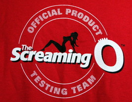 T-Shirt Screaming O Official Product Testing Team Adult Large Orgasm Gra... - $21.95