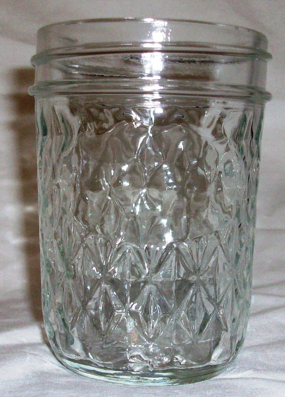 Half Pint Ball Quilted Crystal Canning Jar 1 cup Made in USA Jelly Jar