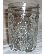 Half Pint Ball Quilted Crystal Canning Jar 1 cup Made in USA Jelly Jar - $3.75