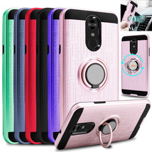 For LG Stylo 4 / 4 Plus / Q Stylo Case Shockproof Phone Cover Ring Holde... - $10.99