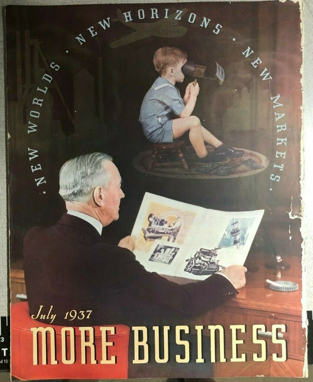 Primary image for MORE BUSINESS tabloid printing & photo-engraving magazine July 1937