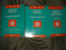 1995 Chrysler Sebring Avenger Shop Service Repair Workshop Manual Set W ... - $3.29