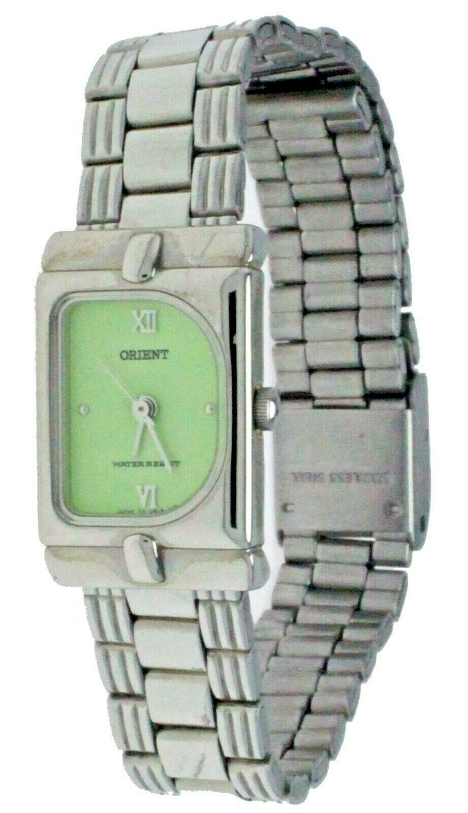 Primary image for New ORIENT Quartz Watch S / Steel Band & Case Adjustable Buckle Water Resistant