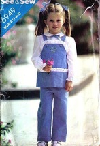 1980's TUNIC & PANTS Pattern 6949-b Toddler Sizes 1-2-3 - $9.99