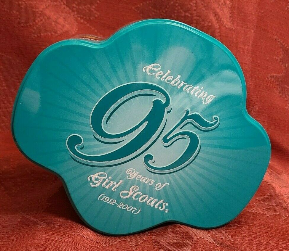 Celebrating 95 Years Of Girl Scouts (1912-2007) Collectible Cookie Tin Container