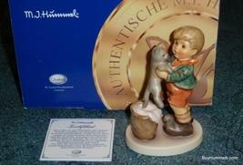 """Kitty Kisses"" Goebel Hummel Figurine #2033 Boy With Cat - With Original... - $130.94"