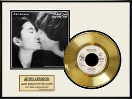 """John Lennon - """"(Just Like) Starting Over"""" Framed 12"""" x 16"""" Gold Record - $154.95"""