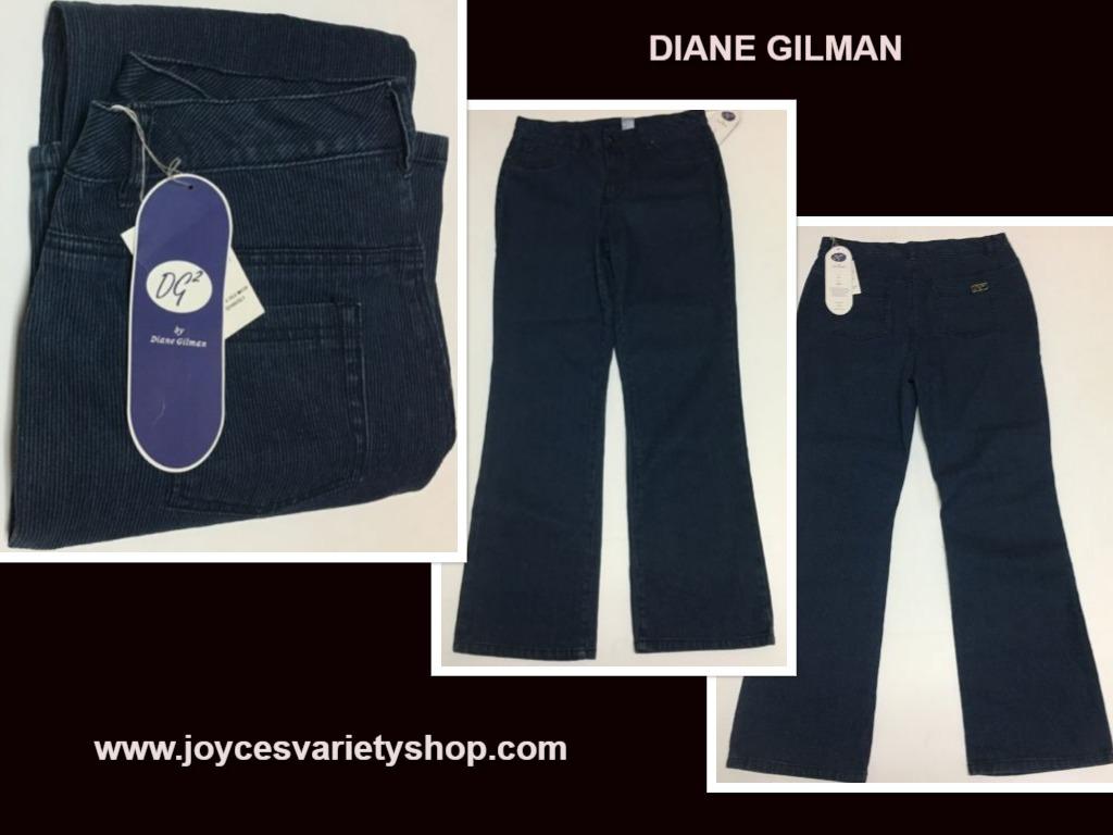Diane gilman pinstriped jeans web collage