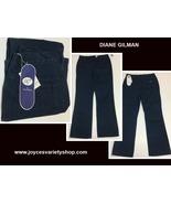 Diane Gilman Pinstriped Jeans 10P Blue NWT - $17.99