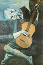 The Old Guitar Player by Pablo Picasso Art Poster 24x36 1903 Bewitched TV Show image 1