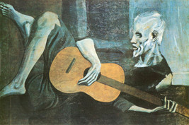 The Old Guitar Player by Pablo Picasso Art Poster 24x36 1903 Bewitched TV Show image 2