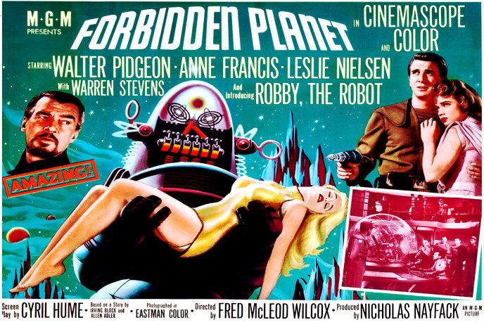 Forbidden Planet Poster 24x36 Robby the Robot Horizontal Rare Sci-Fi Classic