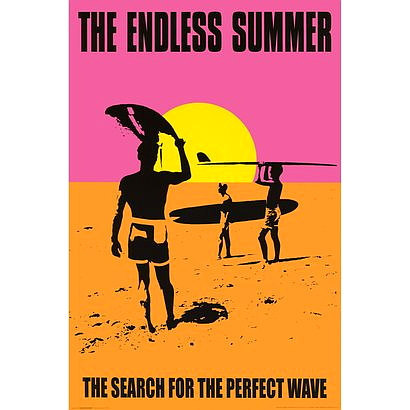 The Endless Summer Poster 24x36 inches Search For The Perfect Wave 61x90 cm