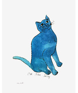 One Blue Pussy by Andy Warhol Poster Print 1954 Sam Cat - $34.99