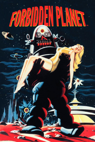Primary image for Forbidden Planet Poster 24x36 inches Robby the Robot Robbie 61x90 cm