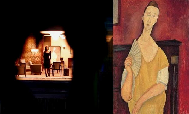 Modigliani Art Print Poster 13x19 Woman with Fan in Skyfall Portrait of Luna Cze
