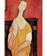 Modigliani Art Print Poster 13x19 Woman with Fan in Skyfall Portrait of ... - $19.99