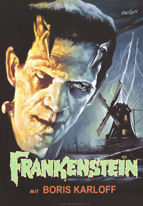 Frankenstein Movie Poster 27x40 in Boris Karloff 69x101 cm Universal Monster