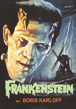 Frankenstein Movie Poster 27x40 in Boris Karloff 69x101 cm Universal Monster - $34.99