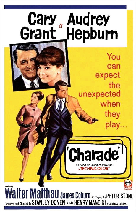 Charade Movie Poster Magnet Cary Grant Audrey Hepburn 2x3 inches 1963 Hitchcock