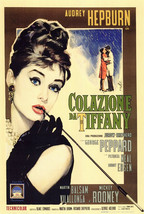 Breakfast at Tiffany's Poster 27x40 in Italian Holly Golightly Audrey Hepburn  - $34.99