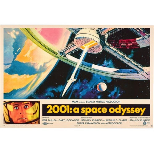 2001: A Space Odyssey 27x40 in One Sheet Stanley Kubrick Keir Dullea HAL 9000