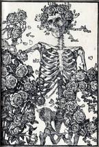 Grateful Dead Poster 24x36 Skeleton Roses Avalon Ballroom Omar Khayyam Rubaiyat  image 2