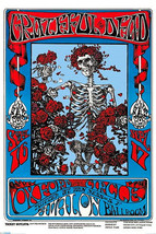 Grateful Dead Poster 24x36 Skeleton Roses Avalon Ballroom Omar Khayyam Rubaiyat  image 1