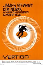 Vertigo Poster 24x36 inches Alfred Hitchcock Jimmy Stewart Kim Novak Saul Bass  - $15.99