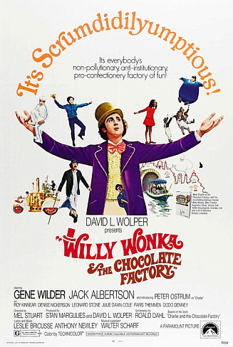 Willy Wonka & the Chocolate Factory Poster 27x40 in Gene Wilder Charlie Dahl