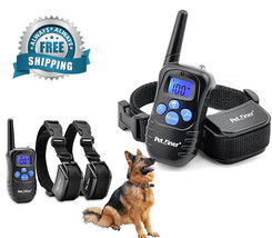 Petrainer Dog Training Collar LCD with Beep Vibration and Shock Range 33... - $48.36 CAD+