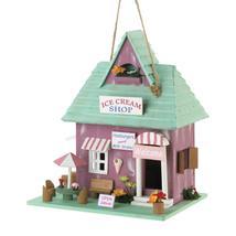 #10018683 *Ice Cream Shop Wood Bird House* - £17.98 GBP