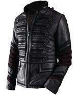 NWT Black Military Men Fashion Stylish Sexy Premium Genuine Real Leather... - $179.99
